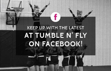 Graphic link for Tumble n' Fly Facebook page