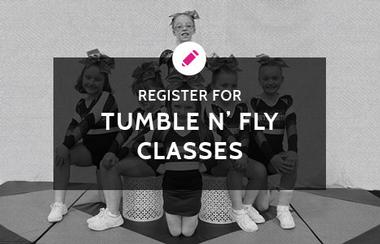 Graphic link to Register for Tumble n' Fly classes