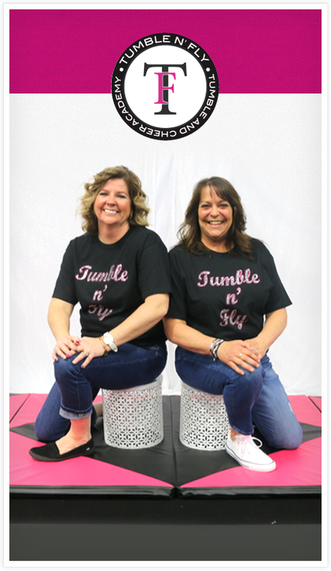 Picture of the Co-Owners of Tumble n' Fly, Erika Moreland & Jo Ellen Davis